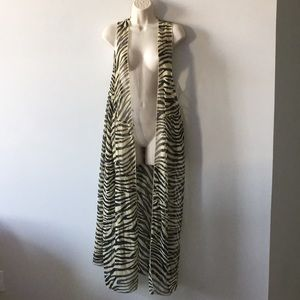 Resort sheer maxi duster pool vacation Coverup